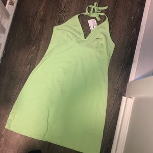 NWT Lime green Lacoste Halter Dress